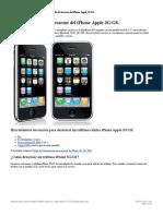 Manual Detallado de Desarme Del iPhone Apple 3G-GS. Repuestos Para iPhone 3G-GS. Cambio de Pantalla y Bateria de iPhone 3G-GS.