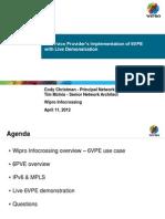 3 SP Implementation of 6VPE Christman McInis11