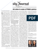 Questions For Both Sides in Wage of PAGA Opinion