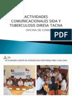 Actividades Comunicacionales Sida y Tuberculosis Diresa Tacna
