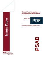 2011-10 Related Party Transactions Recognition and Measurement