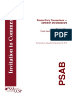 2011-10 Related Party Transactions Definition and Disclosure