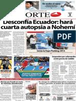 Periódico Norte de Ciudad Juárez edición impresa del 3 abril del 2014