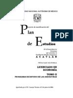 Tomo II Plan de Estudios Economia Fes Acatlan