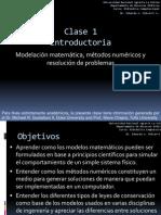 Clase 1 Formulación Matemática Modelos