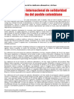 2014 - 3 - 16 - Comunicado International Colombie Castellano