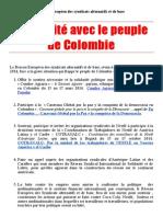 2014 - 3 - 16 - Solidarité avec le peuple de Colombie