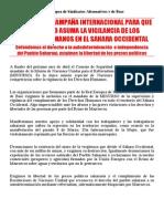 2014 - 3 - 16 - Soutien Sahara Occidental Castillan