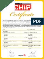 Canon E500 certificate