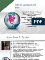 Peter Drucker on Management- 3 themes