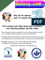 Math Galaxy Riddles Sampler
