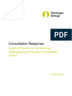 TONIC Portman Group Code Consultation Response