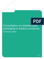 TONIC Summary of Responses to Consultation - Standardised Packaging Tobacco