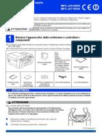 Guida d'Installazione Rapida Cv Mfc6710dw Ita Qsg Lx7359016 A
