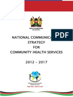 CHS Kenya - National Communication Strategy for Community Health Services 2012 2017