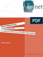 Work Related Stress and Coping Mechanisms in Hungarian Victim Service Provider Organizations | Albulena Shabani