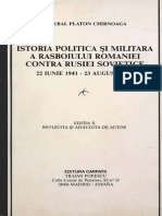 93106953 Istoria Politica Si Militara a Razboiului Romaniei Contra Rusiei Sovietice General Platon Chirnoaga 1987