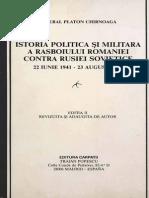 Razboiul Romaniei Contra Rusiei Sovietice General Platon Chirnoaga 1987