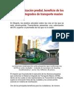 Mayor valorización predial por transporte Masivo