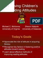 Improving Children's Reading Attitudes