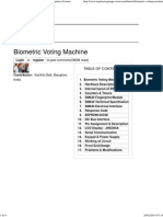 Biometric Voting Machine With Fingerprint Recognition System
