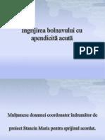 Ingrijirea Bolnavului Cu Apendicita Acuta (2007)