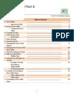 Excel 4 Pivot Tables