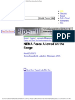 Pipelines, Piping and Fluid Mechanics Engineering - NEMA Force Allowed on the Flange