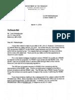 IRS Reply-No Amnesty 4 REMICs 11Mar2014