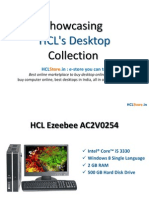 Showcasing HCL's Desktops Collection
