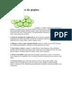 10 Beneficios Pepino