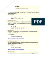 Fast Arithmetic Tips