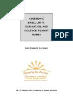 Hegemonic Masculinity, Violence Against Womenpdf