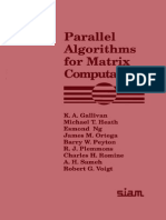 Parallel Algorithms for Matrix Computations