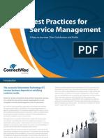 Best Practices for Service Management