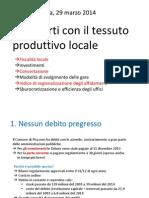 Rapporti Comune-imprese Marzo 2014