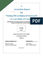 Balance scorecard project