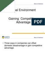 Gaining Competitve Advantae