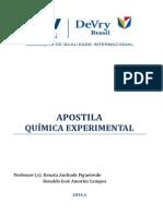 APOSTILA QUÍMICA EXPERIMENTAL  2014.1
