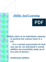 Ability and Learning