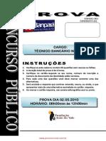 Prova 01 Tecnico Banc Rio
