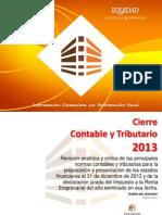 0211 Cierre Contable y Tributario 2013 (1)