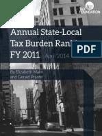Tax Foundation Tax Burdens Report April 2, 2014