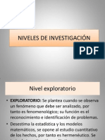 NIVELES DE INVESTIGACIÓN