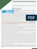 ANZA' SALVATORE CIAMPOLILLO GIUSEPPE Corte di Cassazione, Sezione I Civile, 2014, sentenza 14 gennaio - 20 Studio Cataldi non configurabile responsabilità denunciante  (1)