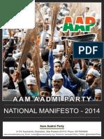 AAP National Manifesto 2014