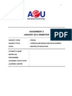 EPE642.Assign2.40 .Curric.design.jan.2014