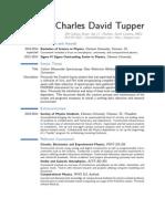 Charles Tupper Resume