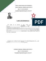 Carta de Residencia