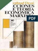 Desai, Meghnad - Lecciones de Teoría Económica Marxista